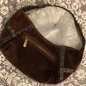 Maxx New York brown suede leather mini bag